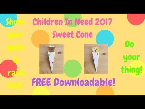 Children In Need Sweet Cone 2017