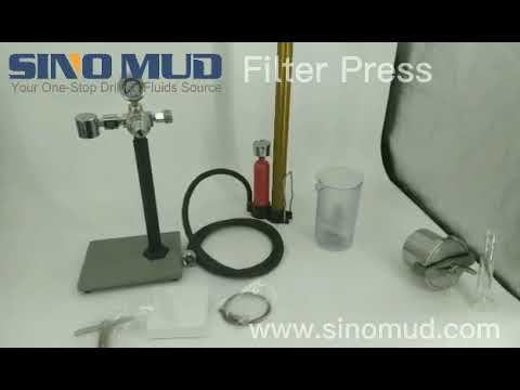 SINO MUD mud testing equipment - Operation guide movie of  filter press.