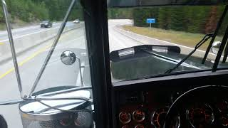 "#6; 2000 Kenworth W900L, 8"" stacks, 3406E 1MM CAT, jake brake action through Idaho"