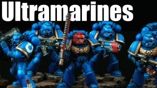 How to paint Ultramarines Space Marines? Warhammer 40k Airbrush buypainted 1/2