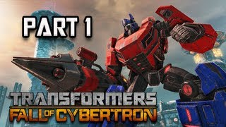 Transformers Fall of Cybertron Walkthrough - Part 1 [Chapter 1] The Exodus Prologue Let's Play PC