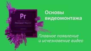 16 урок Плавное появление и исчезновение в Adobe Premiere Pro