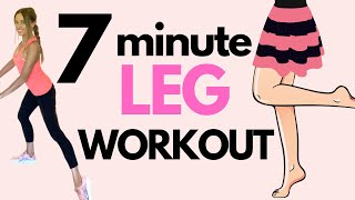 HOME WORKOUT | 7 MINUTE LEG HOME WORKOUT FOR WOMEN - SLIM YOUR THIGHS & TONE YOUR LEGS