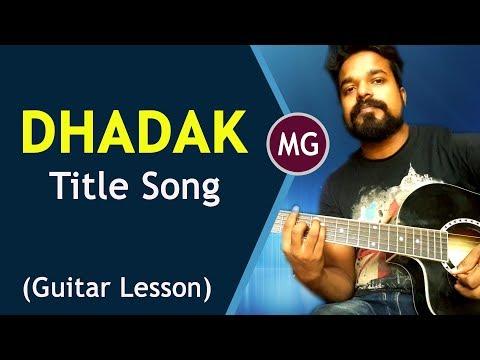 DHADAK - Guitar Chords Lesson    Title Track    Musical Guruji