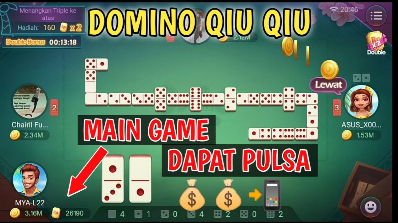 Game DOMINO Dapat Pulsa || Cuma Main Game Gaple - YouTube