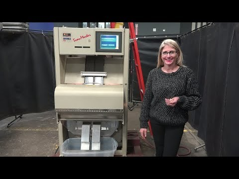 Satake Series ScanMaster ll Track Style Infrared Color Sorting System Demonstration