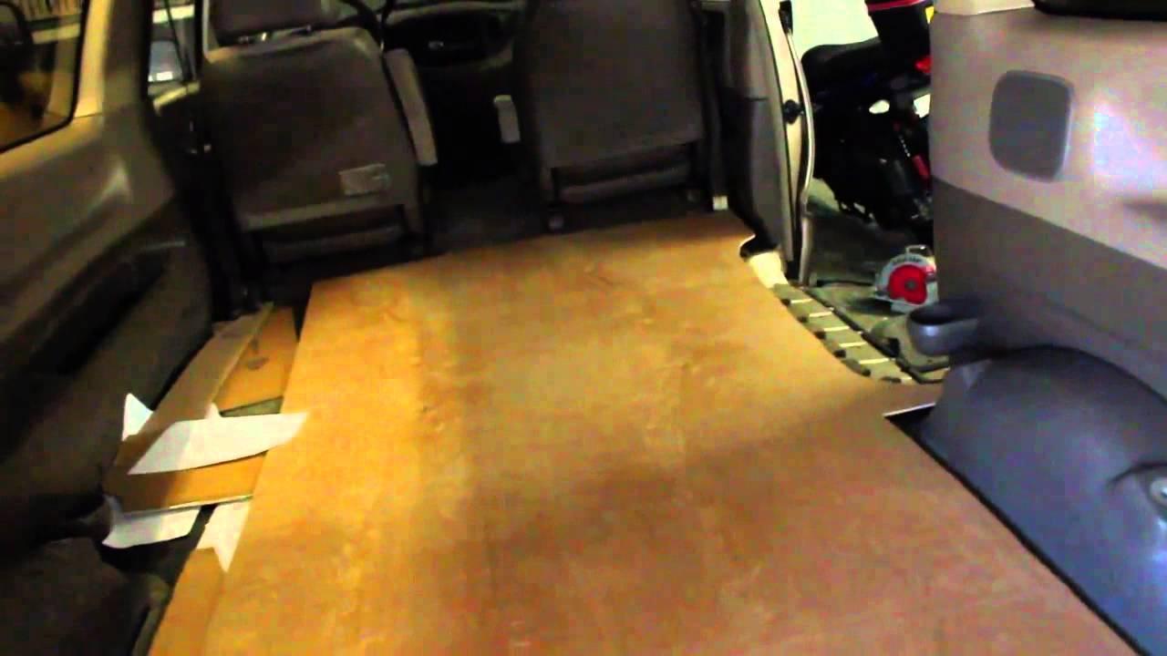 Mini Van Camper Conversion Flooring