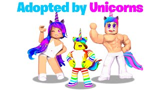 BABY Tofuu gets Adopted by UNICORN Family! 🦄🦄 (Roblox)