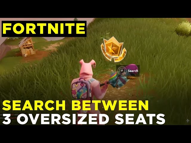 search between three oversized seats fortnite week 8 challenge