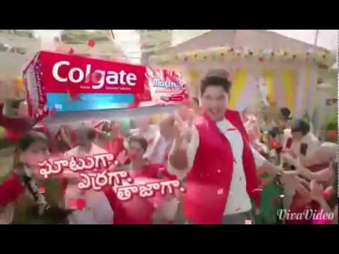 Allu Arjun Colgate add.. awesome dance moves..