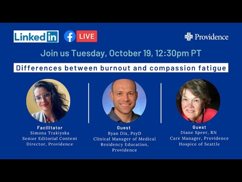 Differences between burnout and compassion fatigue
