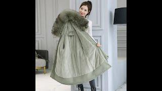 Длинная зимняя парка на морозы до 30 градусов женская меховая куртка с капюшоном подкладка