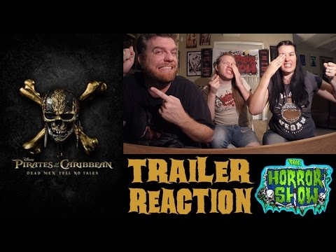 """""""Pirates of the Caribbean: Dead Men Tell No Tales"""" Trailer Reaction - The Horror Show"""