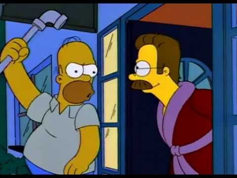 The Simpsons - Ned Flanders - Were you gonna give my noggin a floggin