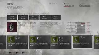 Ryse Son of Rome, Armor, Helmets, ALL  Tier 1 to Tier 5,  Multiplayer Arena, XBox One, armour