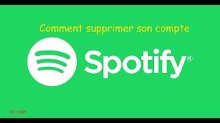 Comment supprimer un compte Spotify - Adridu84