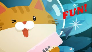 The Fisher Cat - Cute Kitty Cat Adventure Game for Kids and Children.  Fun!