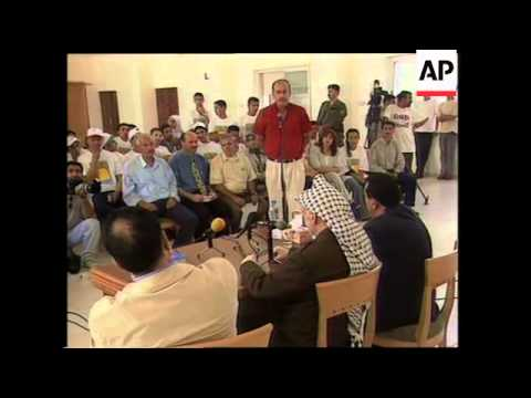 Arafat and Ben-Eliezer on shelling, funeral of victims