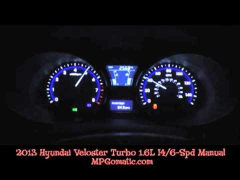 2013 hyundai veloster turbo 0 60 mph youtube. Black Bedroom Furniture Sets. Home Design Ideas