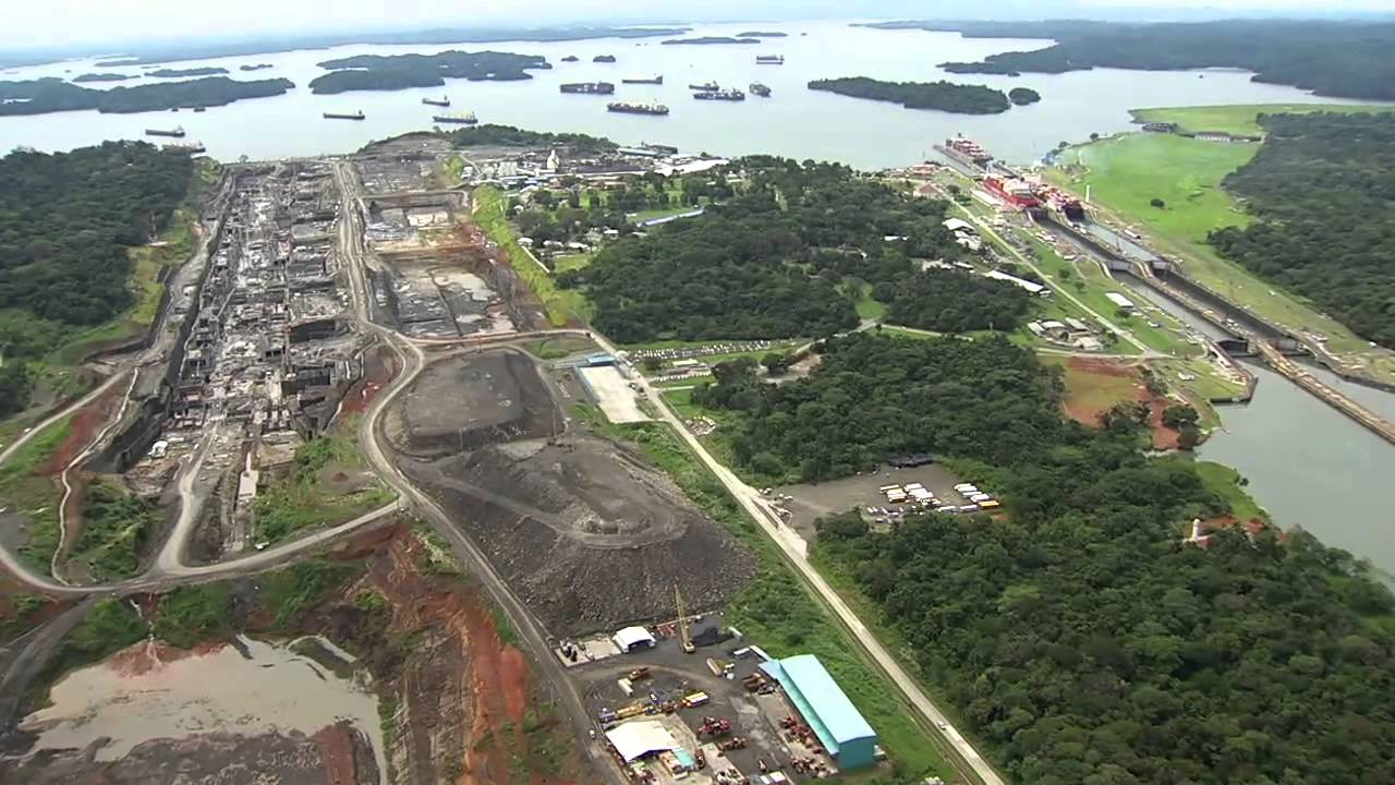 Image result for aerial view of the panama canal