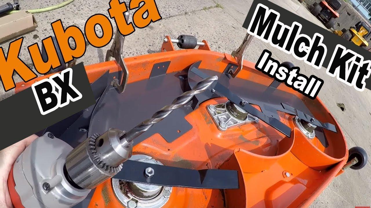 kubota BX mulch kit installation - RCK54-23BX deck
