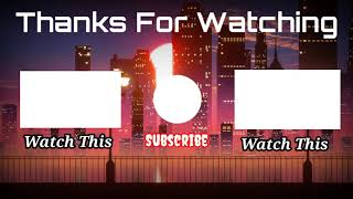 New Outro Template Free To Download | 2021 | #Outro | Ending Screen | Badil Editz