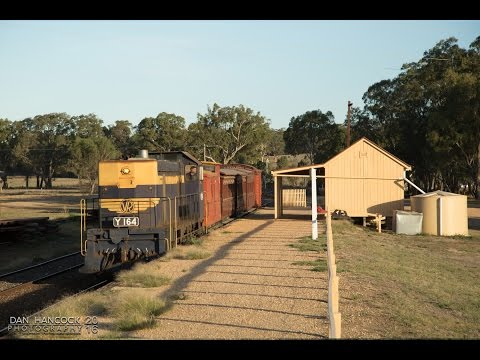 Australian Diesels: Vintage XYZ cars operate on the Victorian Goldfields Railway - 28.02.2016