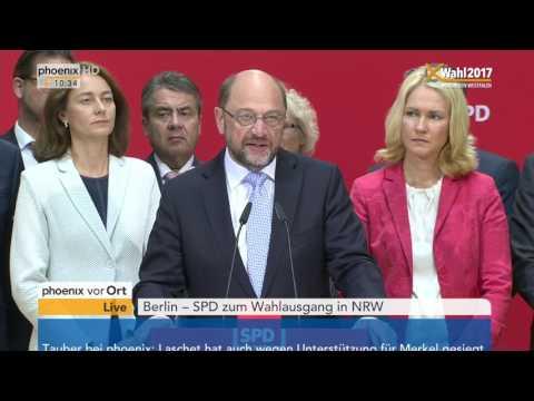 Landtagswahl Nordrhein-Westfalen: Reden von Martin Schulz und Hannelore Kraft am 15.05.17