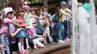 Гродненские фонтаны включили под звуки полонеза Огинского.