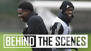 Preparing for Olympiacos | Behind the scenes at Arsenal training centre