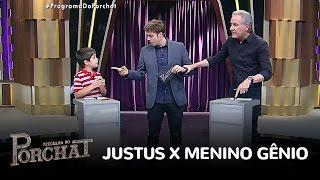 Duelo: Justus não gosta de perder nem para menino de oito anos