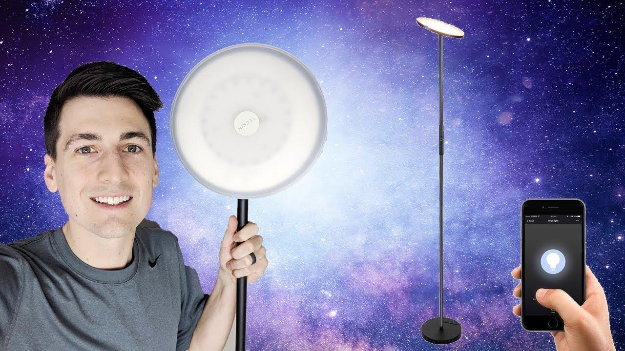 Teckin Smart Dimmable LED WiFi Floor Lamp Review | Amazon Alexa GOOGLE ASSISTANT Smart Life App
