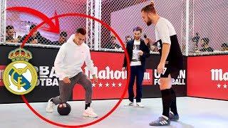 LE ENSEÑO TRUCOS TOP A UN JUGADOR DE PRIMERA del REAL MADRID (MAHOU URBAN FOOTBALL) thumbnail