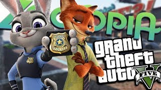 GTA 5 Mods - ZOOTOPIA MOD w/ NICK & JUDY (GTA 5 PC Mods Gameplay)