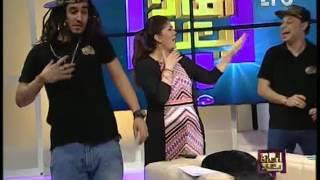 بالفيديو.. رولا خرسا تدخل في وصلة رقص مع المدفعجية