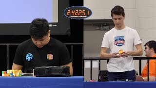 Max Park vs The Dream Team (2x2-7x7 Relay) - CubingUSA Nationals 2018 (feat. Feliks Zemdegs)