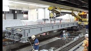 JR東海、品川駅リニア工事公開=新幹線のレール支え、鉄桁に