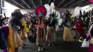 Zulu parades on Mardi Gras day in New Orleans