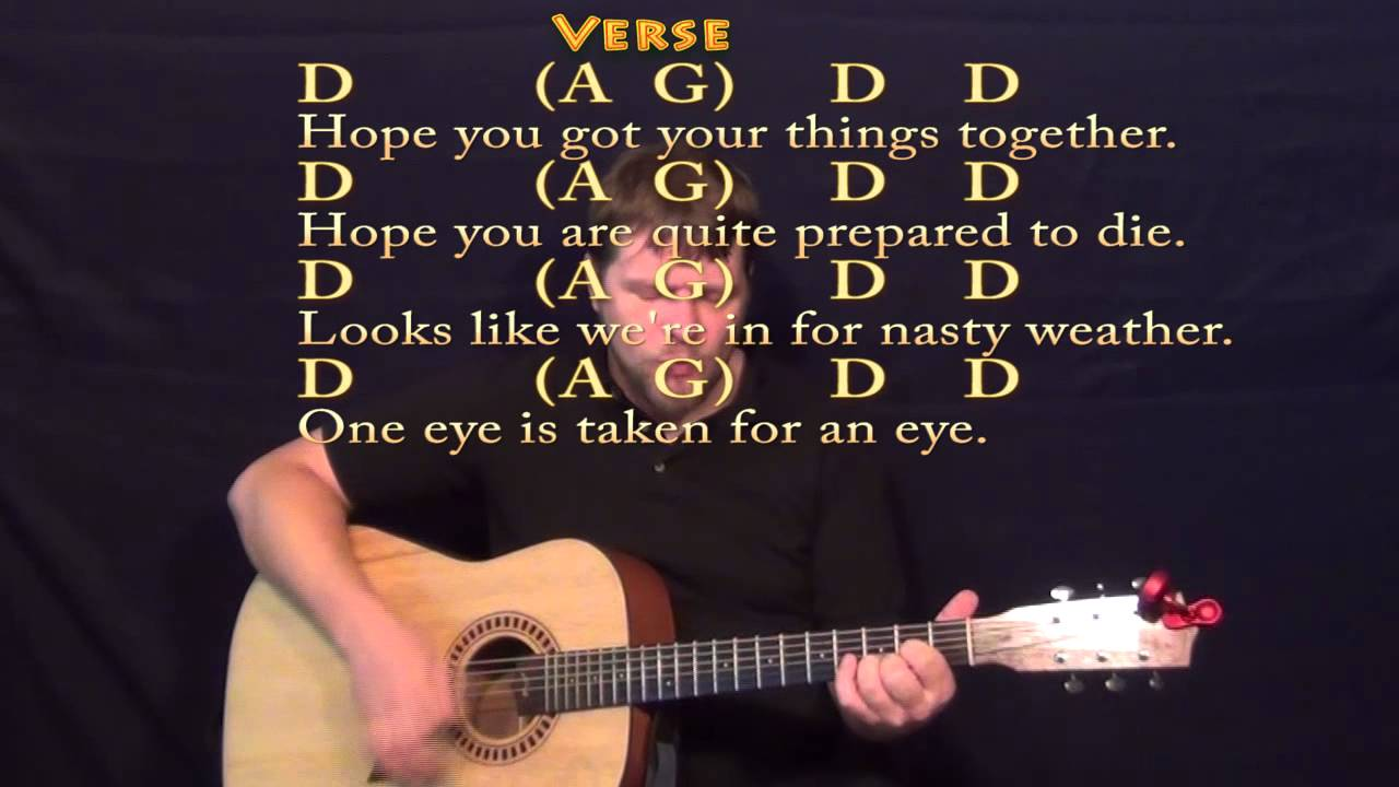 Bad Moon Rising Ccr Guitar Strum Cover Lesson With Chords And