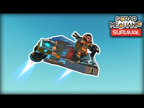 I Finally Built A Flyer For High Speed Exploring! (Scrap Mechanic Survival Ep.38)