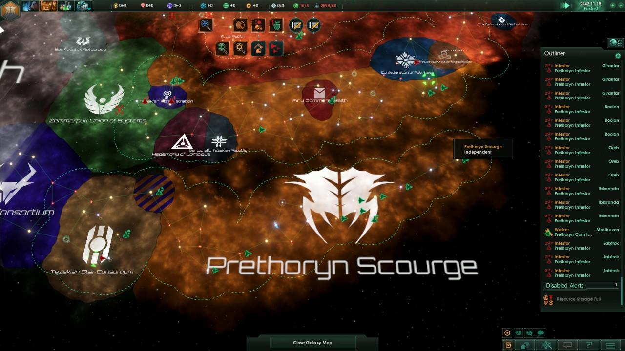 stellaris 13 bug prethoryn scourge doesnt spawn new