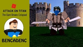 Roblox Attack On Titan: Downfall | Giant Streaks Collapsed | Roblox Adventures