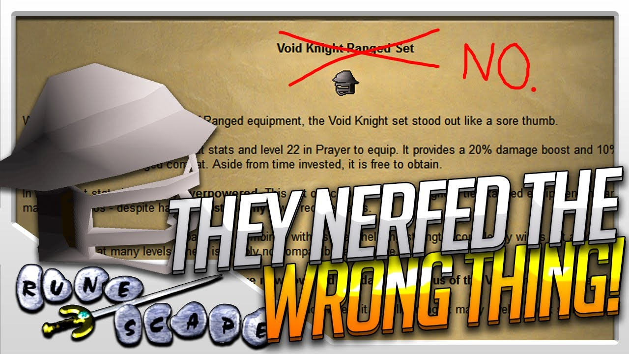 jagex nerfed the wrong thing old school runescape update youtube