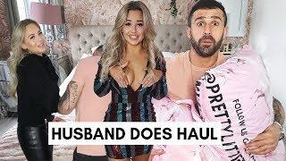 HUSBAND/BOYFRIEND DOES MY PRETTYLITTLETHING HAUL & TRY ON | Lucy Jessica Carter AD