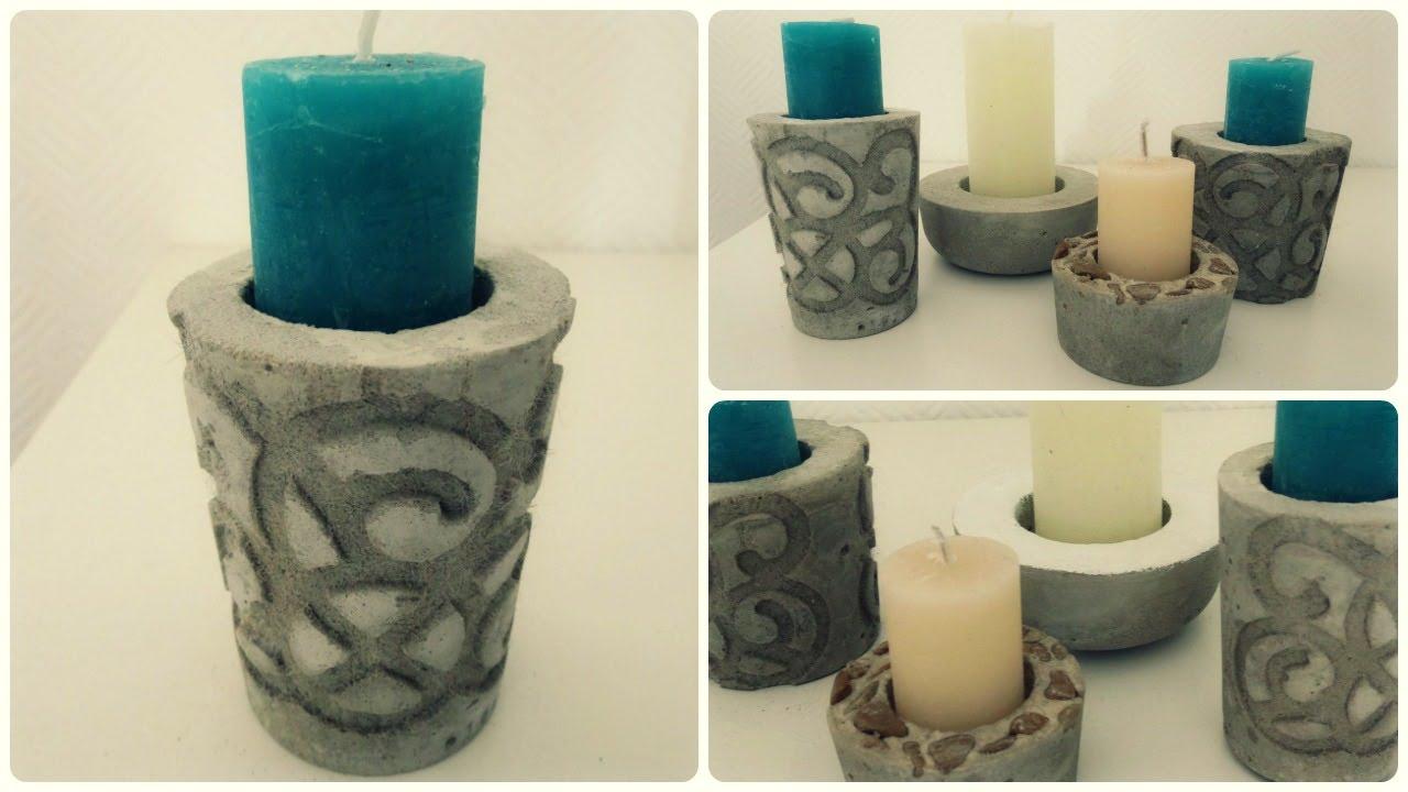 kerzenhalter aus beton 2 diy concrete candle holder eng sub youtube. Black Bedroom Furniture Sets. Home Design Ideas