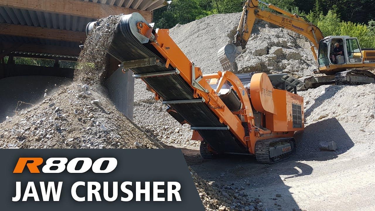 R800 Jaw Crusher processing natural stone/ Raupenmobiller Backenbrecher Natursteinaufbereitung