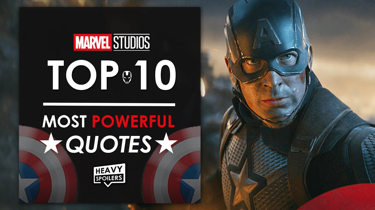 Top 10 Most Powerful Quotes In The MCU | Iron Man To Avengers: Endgame
