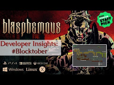 Blasphemous #Blocktober  16 hours of blocky level design