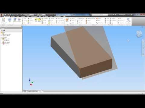 Autodesk Inventor Tutorial 22 Work Planes Pt 1 Doovi