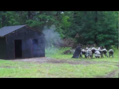 Explosive door breaching Army